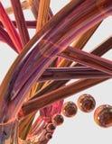 Primo piano della stringa del DNA illustrazione di stock