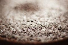 Primo piano della superficie del dolce di cioccolato Immagine Stock Libera da Diritti
