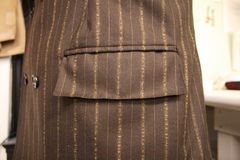 Primo piano della tasca di Men's Suitcoat Fotografia Stock