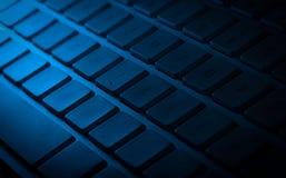 Primo piano della tastiera con lo spazio della copia Immagine Stock