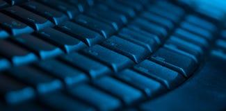 Primo piano della tastiera con lo spazio della copia Fotografie Stock Libere da Diritti