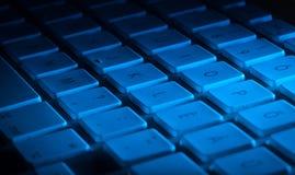 Primo piano della tastiera con lo spazio della copia Fotografia Stock Libera da Diritti