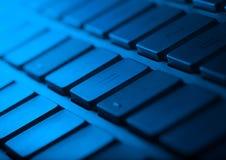 Primo piano della tastiera con lo spazio della copia Immagini Stock