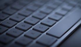 Primo piano della tastiera con lo spazio della copia Immagini Stock Libere da Diritti