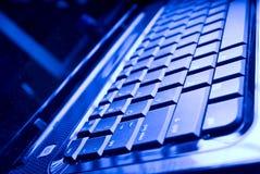 Primo piano della tastiera del computer portatile Fotografia Stock