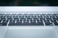 Primo piano della tastiera del computer portatile Fotografia Stock Libera da Diritti