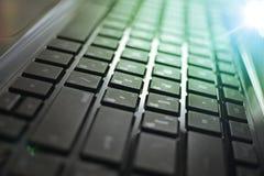 Primo piano della tastiera del computer portatile Fotografie Stock