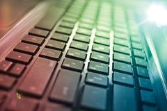 Primo piano della tastiera del computer portatile Immagine Stock