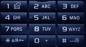 Primo piano della tastiera del telefono Immagini Stock