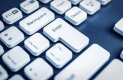 Primo piano della tastiera di computer immagini stock libere da diritti