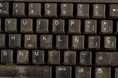 Primo piano della tastiera di computer d'annata del pc Immagine Stock Libera da Diritti