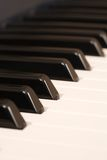 Primo piano della tastiera di piano Fotografie Stock