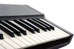 Primo piano della tastiera di piano Immagine Stock Libera da Diritti