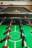 Primo piano della tavola di calcio con il biliardo Immagini Stock Libere da Diritti