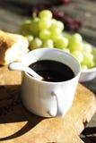 Primo piano della tazza di caffè Fotografia Stock