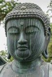 Primo piano della testa di Amithabha Buddha Fotografia Stock Libera da Diritti