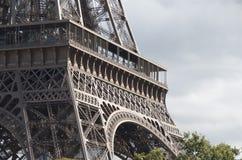 Primo piano della Torre Eiffel Fotografia Stock