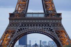 Primo piano della torre Eiffel Fotografia Stock Libera da Diritti