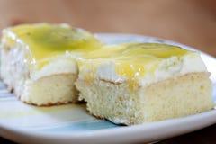 Primo piano della torta del kiwi della frutta Immagini Stock Libere da Diritti