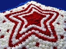 Primo piano della torta della stella Fotografia Stock Libera da Diritti