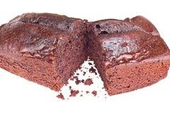 Primo piano della torta di cioccolato Fotografie Stock Libere da Diritti