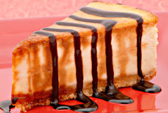 Primo piano della torta di formaggio Fotografie Stock