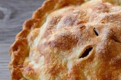 Primo piano della torta di mele Fotografia Stock