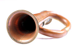 Primo piano della tromba Fotografia Stock