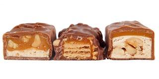 Primo piano delle barre di cioccolato Immagine Stock Libera da Diritti