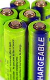 Primo piano delle batterie Fotografie Stock