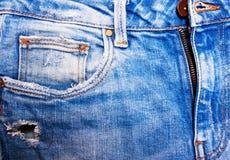 Primo piano delle blue jeans Immagine Stock Libera da Diritti