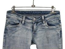 Primo piano delle blue jeans alla moda Immagine Stock