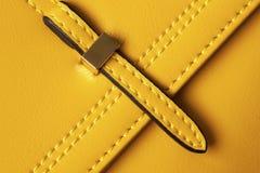 Primo piano delle borse di cuoio del dettaglio Fotografie Stock