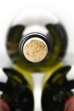Primo piano delle bottiglie di vino Fotografie Stock