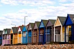 Primo piano delle capanne della spiaggia Fotografie Stock Libere da Diritti