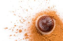 Primo piano delle caramelle di cioccolato Immagine Stock Libera da Diritti