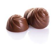Primo piano delle caramelle di cioccolato Fotografie Stock