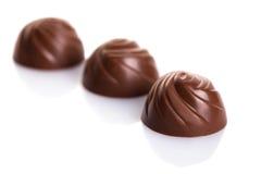 Primo piano delle caramelle di cioccolato Fotografia Stock