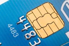 Primo piano della carta di credito Fotografie Stock Libere da Diritti