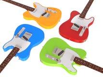 Primo piano delle chitarre elettriche Fotografia Stock Libera da Diritti