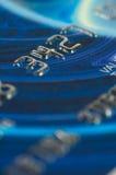 Primo piano delle cifre di carta di credito. Immagini Stock