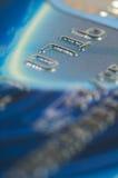 Primo piano delle cifre di carta di credito. Fotografia Stock Libera da Diritti