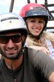 Primo piano delle coppie sorridenti Fotografia Stock