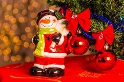 Primo piano delle decorazioni di Natale Immagine Stock