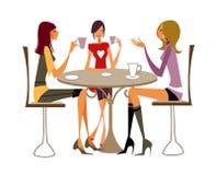 Primo piano delle donne che si siedono sulla presidenza illustrazione di stock