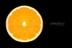 Primo piano delle fette arancio fresche sane Concetto di dieta sana e di cibo pulito progettazione del modello Immagini Stock