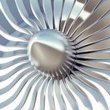 Primo piano delle lame del motore a propulsione di Turbo illustrazione 3D Immagini Stock