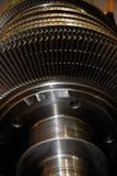 Primo piano delle lame di rotore della turbina di Machnine fotografia stock