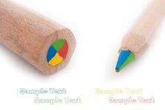 Primo piano delle matite di colore Fotografie Stock