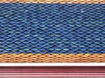 Primo piano delle mattonelle di tetto Immagini Stock Libere da Diritti